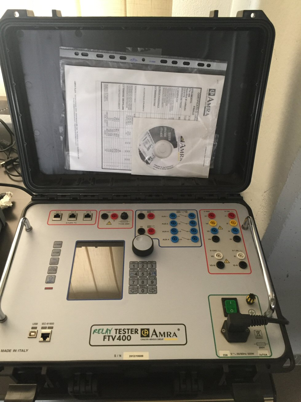 cassetta prova relè Amra FTV 400