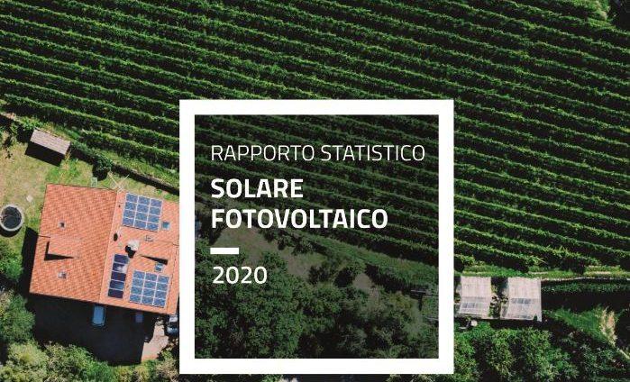 rapporto GSE fotovoltaico Italia 2020